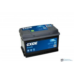 EXIDE Excell 12V 71Ah 670A Jobb+ EB712 Akkumulátor