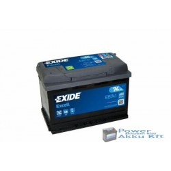 EXIDE Excell 12V 74Ah 680A Bal+ EB741 Akkumulátor