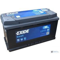 EXIDE Excell 12V 95Ah 800A Jobb+ EB950 Akkumulátor