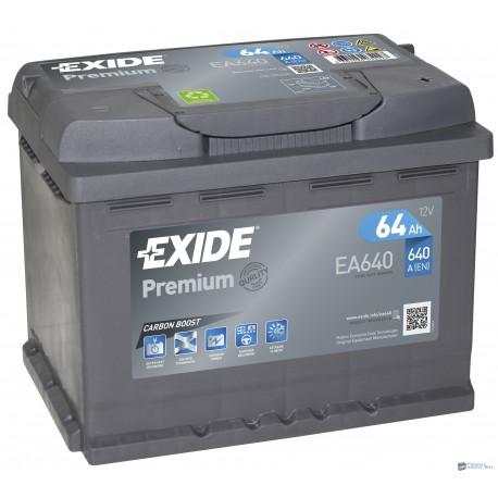 Exide Premium 12V 64Ah 640A jobb+ EA640 akkumulátor