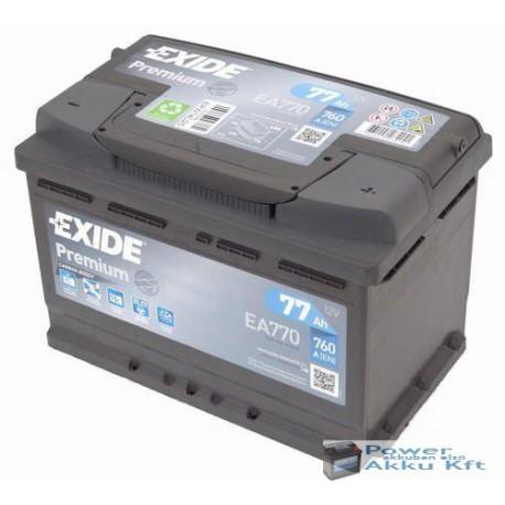 Exide Premium 12V 77Ah 760A jobb+ EA770 akkumulátor