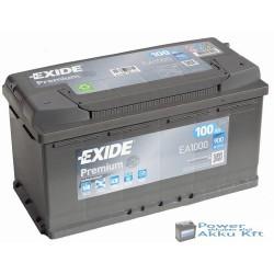 Exide Premium 12V 100Ah 900A jobb+ EA1000 akkumulátor