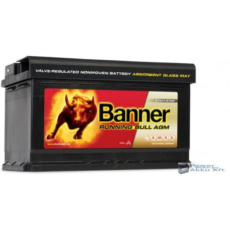 Banner Running Bull 580 01 AGM 12V 80Ah 800A jobb+ akkumulátor