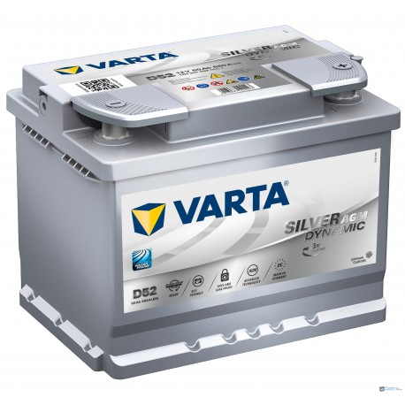 Varta Silver Dynamic AGM 12v 60Ah 560A jobb+ akkumulátor