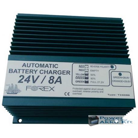 24V 8Ah automata akkumulátortöltő T2408B-3P