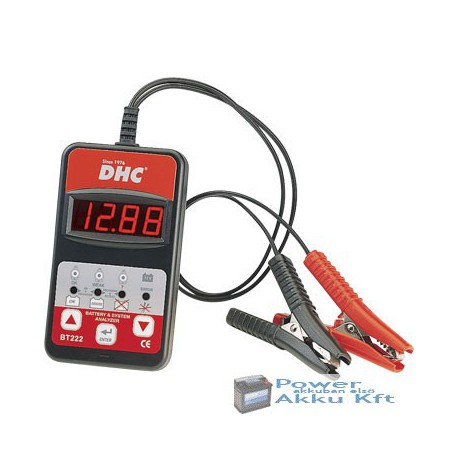 DHC-BT222 akkumulátor teszter
