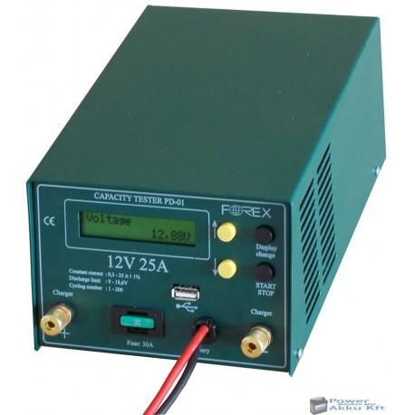 Akkumulátor teszter Proc. 12V 25Ah Pendrive