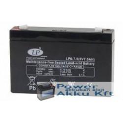 LP 6V 7Ah akkumulátor