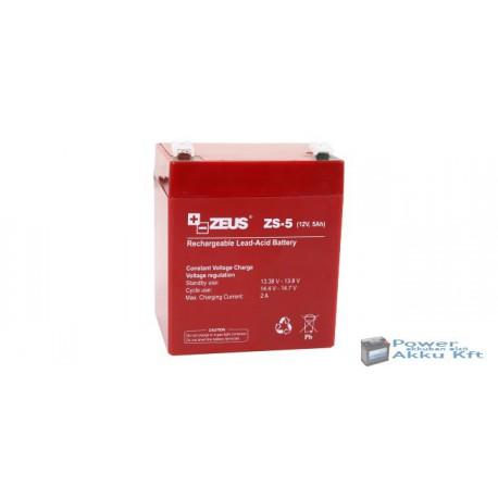 ZEUS ZS-5 12V 5Ah akkumulátor