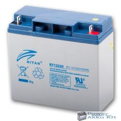 Ritar 12V 22Ah 20HR elektromos kerékpár akkumulátor