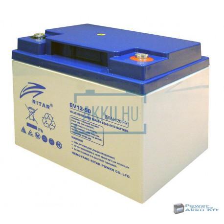 Ritar 12V 50Ah EV12-50 ciklikus zselés kerekesszék akkumulátor