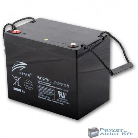 RITAR 12V 75Ah EV12-75 ciklikus zselés kerekesszék akkumulátor