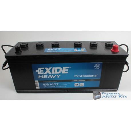 Exide 12V 140Ah 900A jobb+ teherautó akkumulátor EG1402