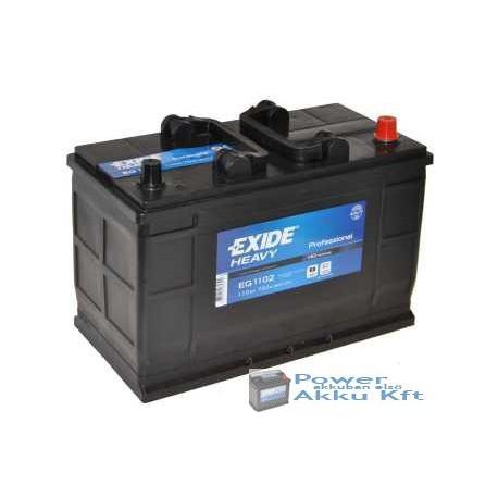 Exide 12v 110Ah 750A peremes jobb+ teherautó akkumulátor EG1102