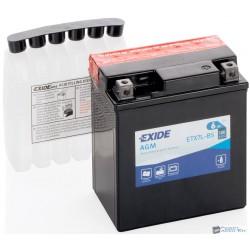 EXIDE ETX7L-BS 12V 6Ah 100A jobb+ motorkerékpár akkumulátor