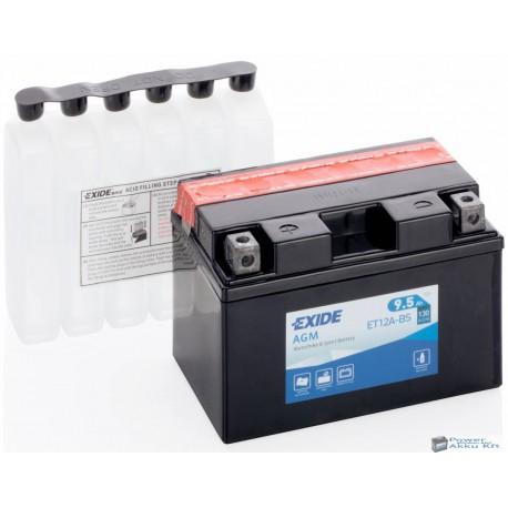 EXIDE ET12A-BS 12V 9,5Ah 130A bal+ motorkerékpár akkumulátor