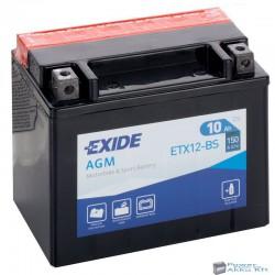 EXIDE ETX12-BS 12V 10Ah 150A bal+ motorkerékpár akkumulátor