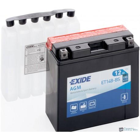 EXIDE ET14B-BS 12V 12Ah 135A bal+ motorkerékpár akkumulátor