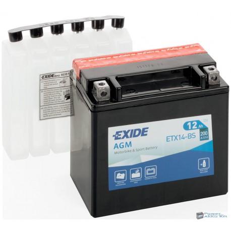 EXIDE ETX14-BS 12V 12Ah 200A bal+ motorkerékpár akkumulátor