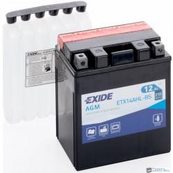 EXIDE ETX14AHL-BS 12V 12Ah 210A jobb+ motorkerékpár akkumulátor