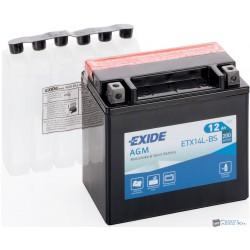 EXIDE ETX14L-BS 12V 12Ah 200A jobb+ motorkerékpár akkumulátor