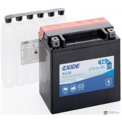 EXIDE ETX16-BS 12V 14Ah 215A bal+ motorkerékpár akkumulátor