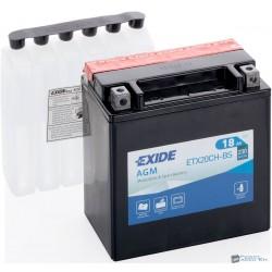 EXIDE ETX20CH-BS 12V 18Ah 270A bal+ motorkerékpár akkumulátor