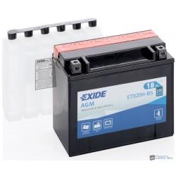 EXIDE ETX20H-BS 12V 18Ah 240A bal+ motorkerékpár akkumulátor