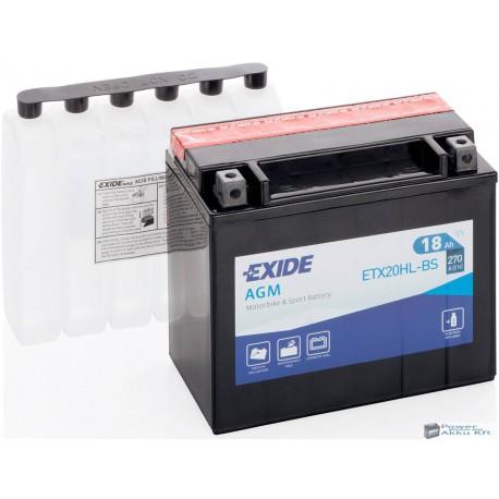 EXIDE ETX20HL-BS 12V 18Ah 270A jobb+ motorkerékpár akkumulátor