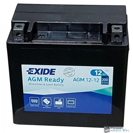EXIDE AGM12-12 12V 12Ah 200A bal+ motorkerékpár akkumulátor