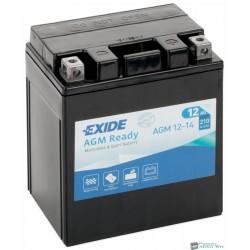 EXIDE AGM12-14 12V 14Ah 210A jobb+ motorkerékpár akkumulátor