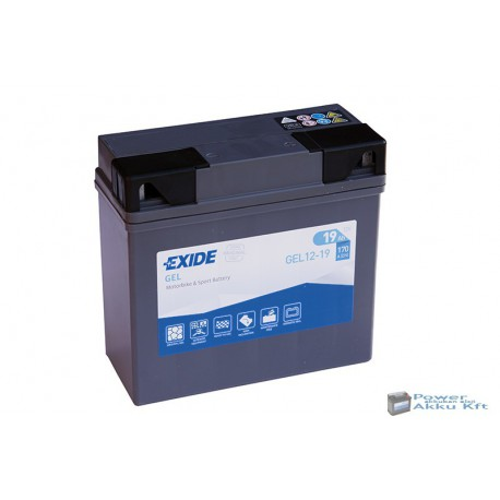 EXIDE G19 12V 19Ah 170A jobb+ motorkerékpár akkumulátor