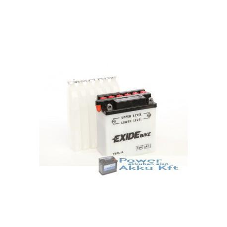 EXIDE EB3L-A 12V 3Ah 25A jobb+ motorkerékpár akkumulátor