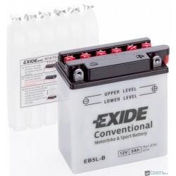 EXIDE EB5L-B 12V 5Ah 65A jobb+ motorkerékpár akkumulátor