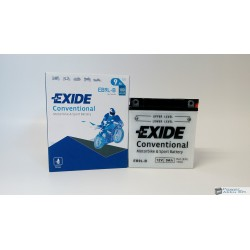 EXIDE EB9L-B 12V 9Ah 100A jobb+ motorkerékpár akkumulátor