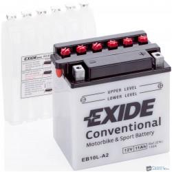 EXIDE EB10L-A2 12V 11Ah 130A jobb+ motorkerékpár akkumulátor