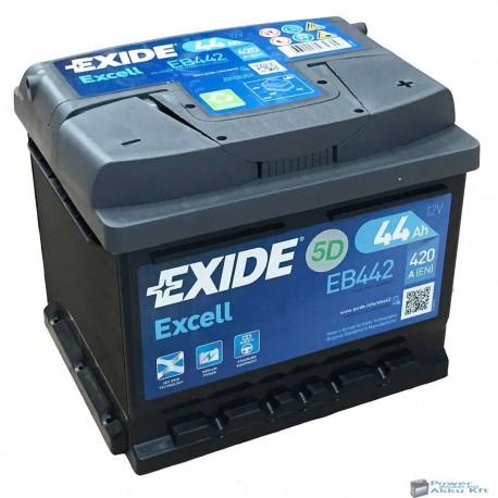 EXIDE Excell 12V 44Ah 420 jobb+ akkumulátor