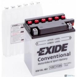 EXIDE EB10L-B2 12V 11Ah 160A jobb+ motorkerékpár akkumulátor