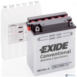 EXIDE EB12AL-A 12V 12Ah 165A bal+ motorkerékpár akkumulátor