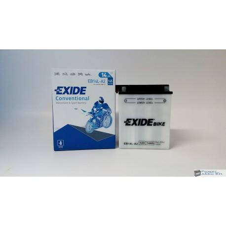 EXIDE EB14L-A2 12V 14Ah 145A jobb+ motorkerékpár akkumulátor
