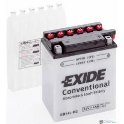 EXIDE EB14L-B2 12V 14Ah 145A jobb+ motorkerékpár akkumulátor