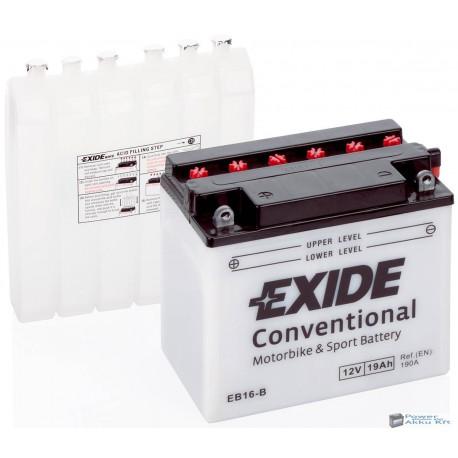 EXIDE EB16-B 12V 19Ah 190A bal+ motorkerékpár akkumulátor