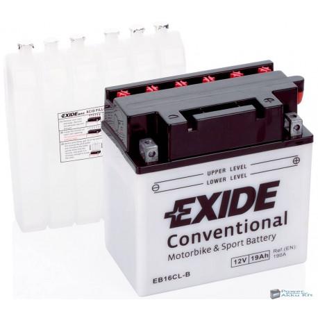 EXIDE EB16CL-B 12V 19Ah 240A jobb+ motorkerékpár akkumulátor