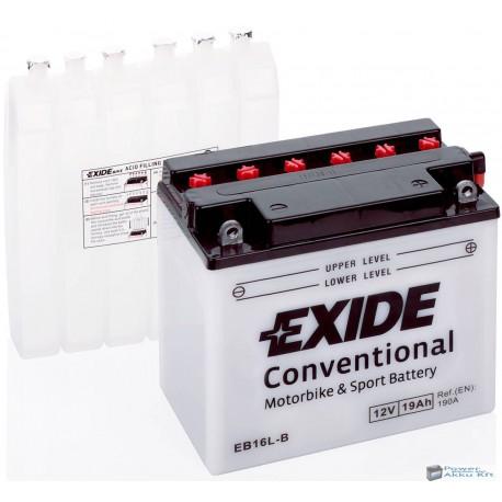 EXIDE EB16L-B 12V 19Ah 190A jobb+ motorkerékpár akkumulátor