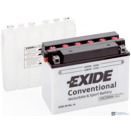 EXIDE E50-N18L-A 12V 20Ah 260A jobb+ motorkerékpár akkumulátor