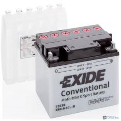 EXIDE E60-N30L-B 12V 30Ah 300A jobb+ motorkerékpár akkumulátor