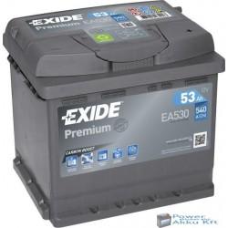 Exide Premium 12v 53Ah 540A jobb+ EA530 akkumulátor