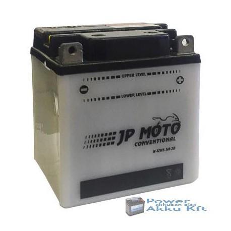JP Moto Y-12N5.5A-3B 12V 5,5Ah 44A jobb+ motorkerékpár akkumulátor