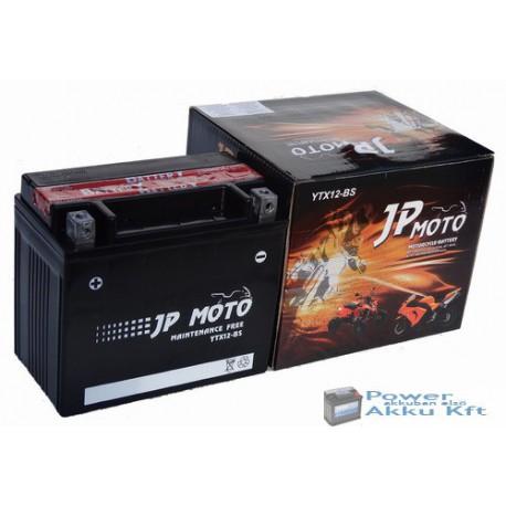 JP Moto Y-YTX12-BS 12V 10Ah 160A bal+ motorkerékpár akkumulátor