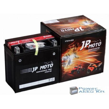 JP Moto Y-YTX14-BS 12V 12Ah 180A bal+ motorkerékpár akkumulátor